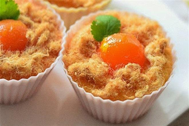 cách làm cupcake trứng muối