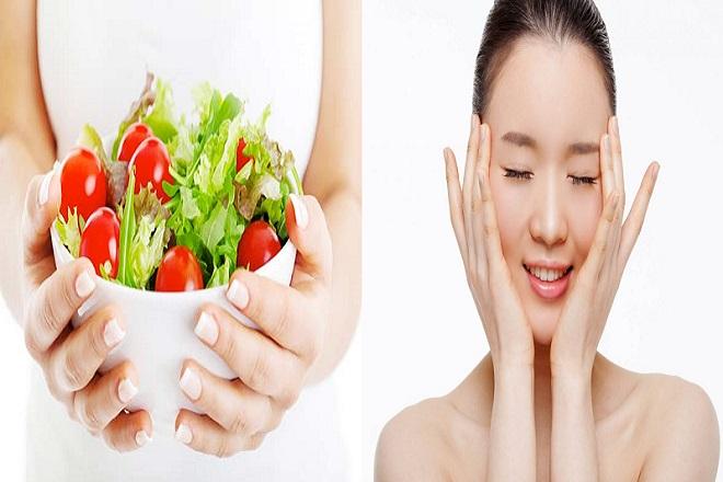 chế độ ăn uống lành mạnh sẽ giúp duy trì làn da mịn màng