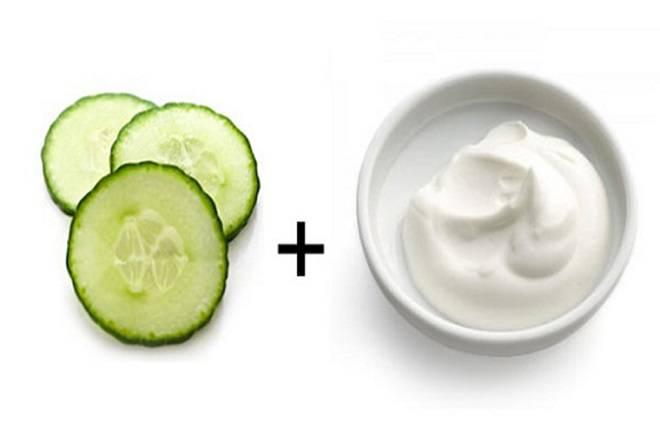 Làm mặt nạ đắp ngực từ dưa leo và sữa chua để cải thiện vòng 1 chảy xệ