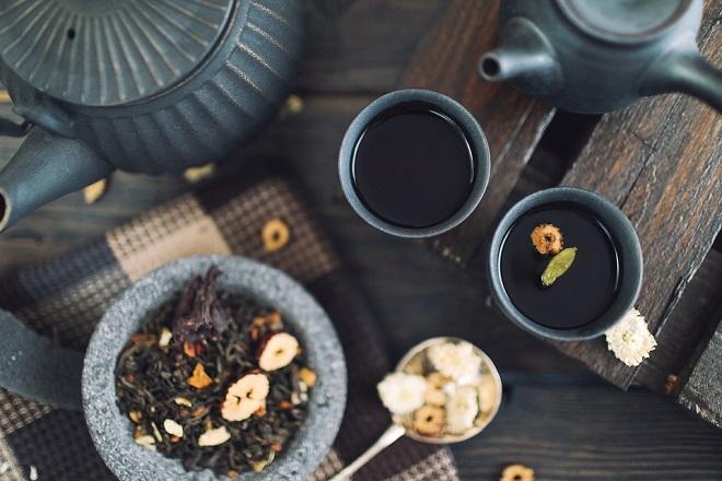 ly trà đen
