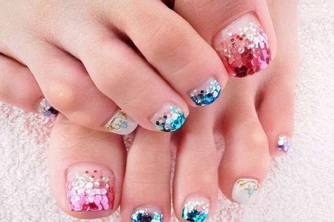 các kiểu nail móng chân