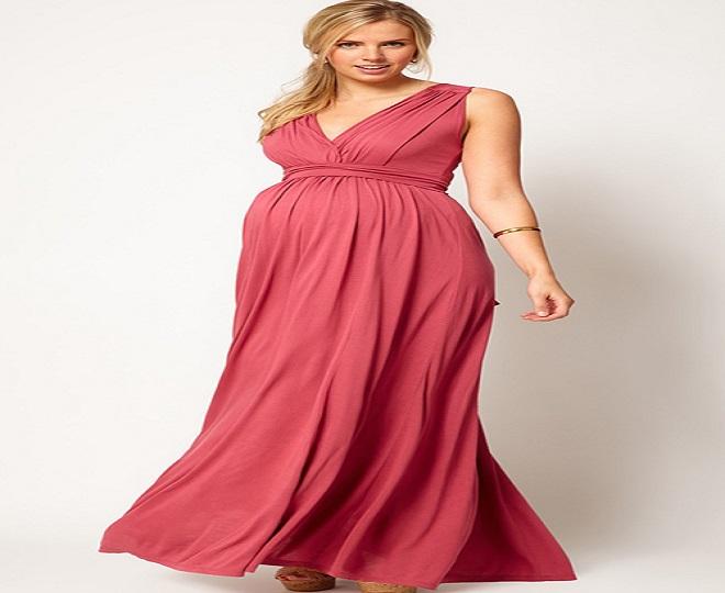 thời trang cho bà bầu dự tiệc với đầm liền thanh lịch
