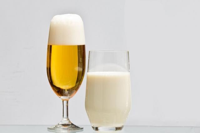 bia và sữa tươi