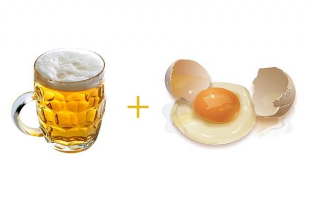 bia và trứng gà
