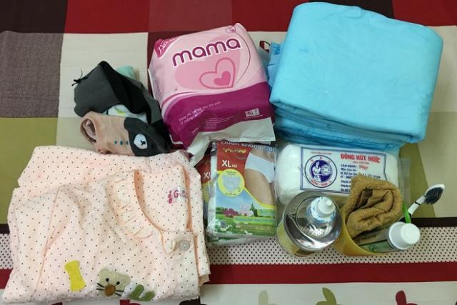 chuẩn bị đồ cho mẹ khi đi sinh