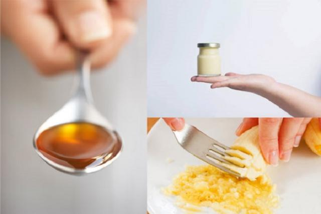làm đẹp bằng sữa ong chúa với chuối