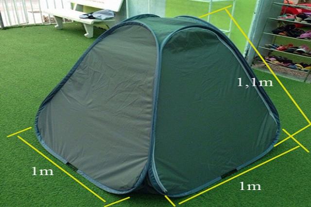 lều xông hơi có kích thước gọn nhẹ nên không chiếm diện tích phòng