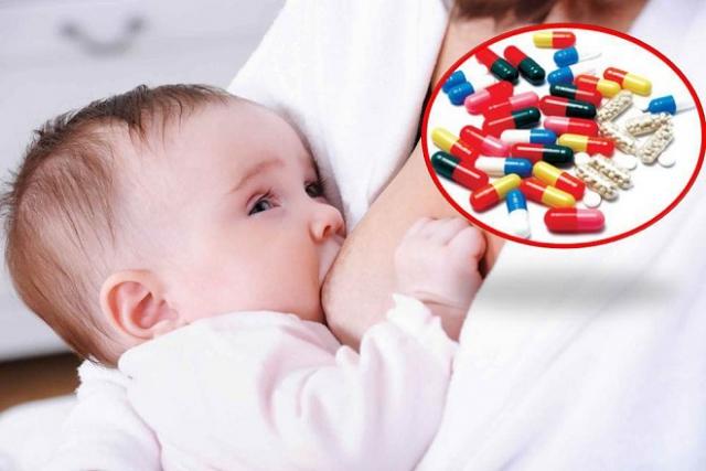 mẹ nên uống thuốc bổ sau khi cho con bú 15 phút