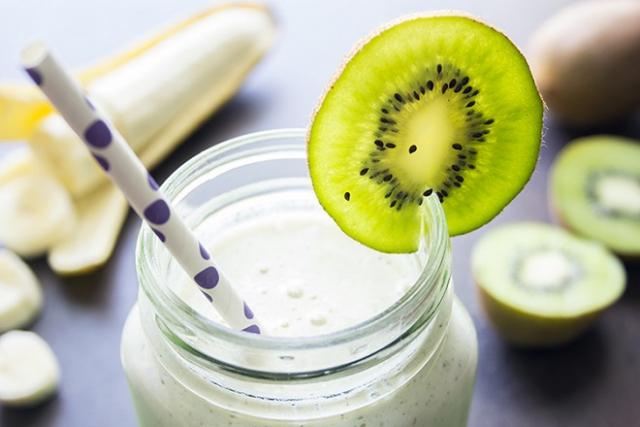 sinh tố kiwi chuối