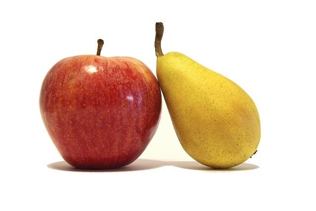 sinh tố táo lê cho bé