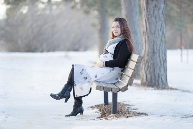 thời trang bà bầu mùa đông