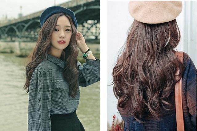 tóc dài gợn sóng nhe