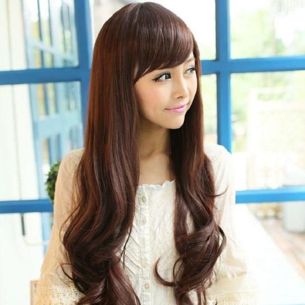 tóc dài gợn sóng
