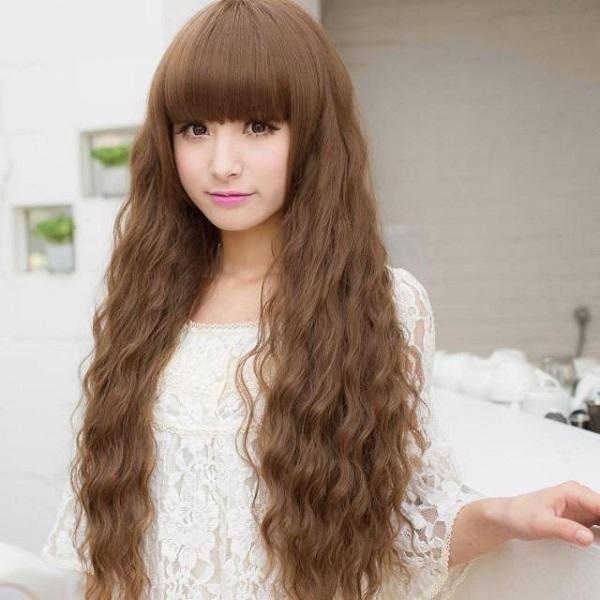 tóc dài uốn bím
