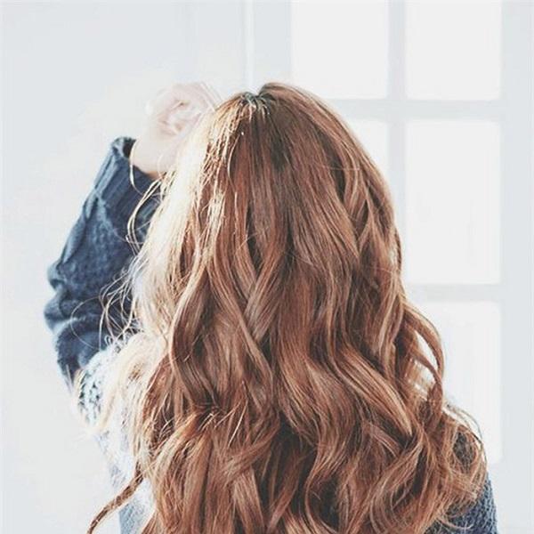 tóc dài uốn dập sóng lọn lớn