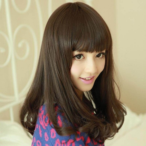 tóc uốn cúp đuôi cho mặt dài