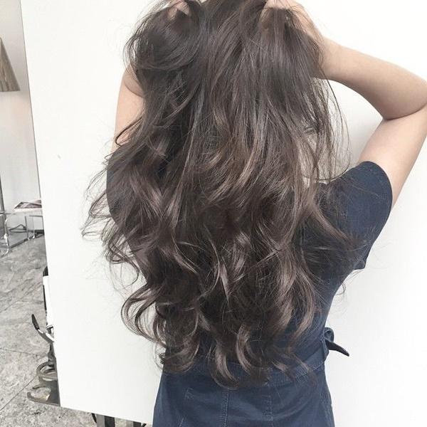tóc uốn gợn sóng bồng bềnh