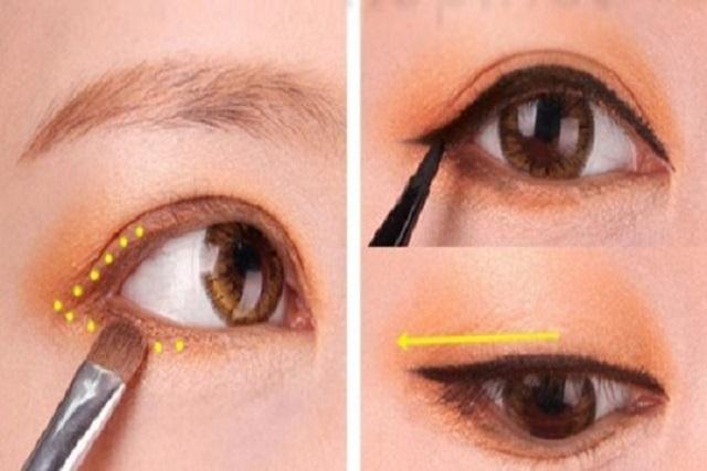 trang điểm mắt và kẻ đường eyeline cho mắt