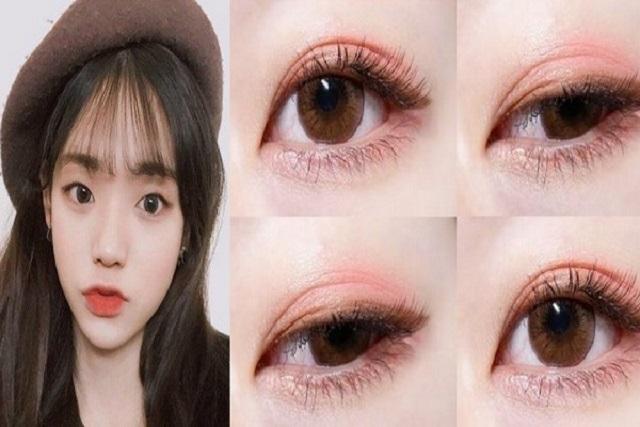 trang điểm vùng mắt má hồng và chân mày