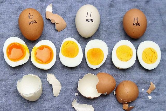 những loại trứng luộc