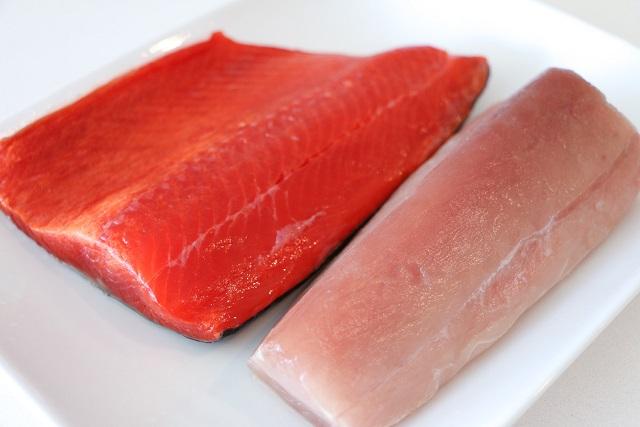 cá hồi cá ngừ