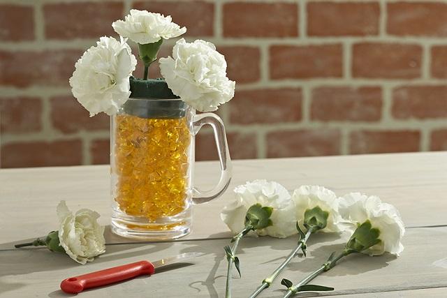 cắm hoa hình chữ l