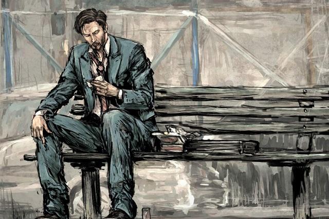 tranh vẽ người đàn ông