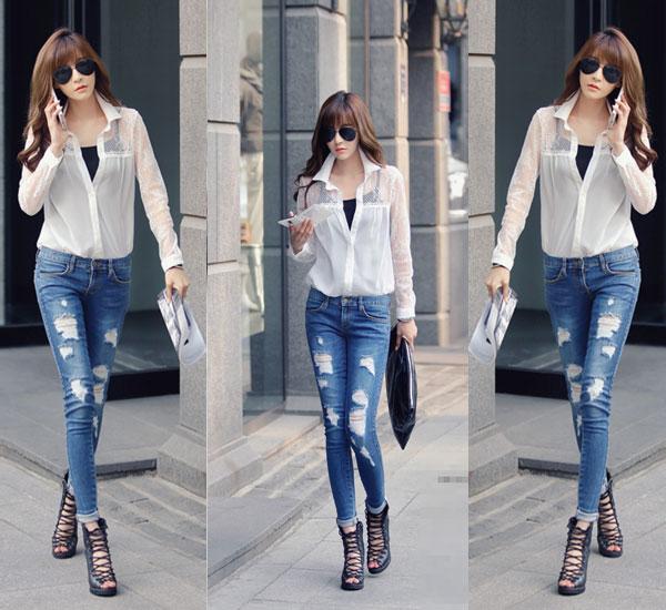 Những cách mặc quần jeans đẹp nhất cho bạn nữ sành điệu