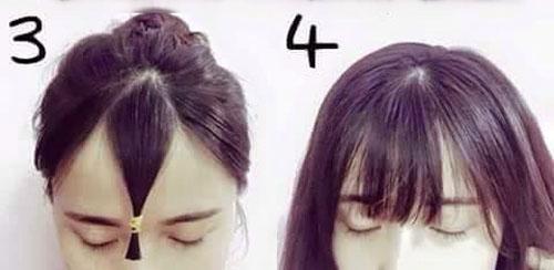 Cách cắt tóc mái thưa Hàn Quốc tại nhà