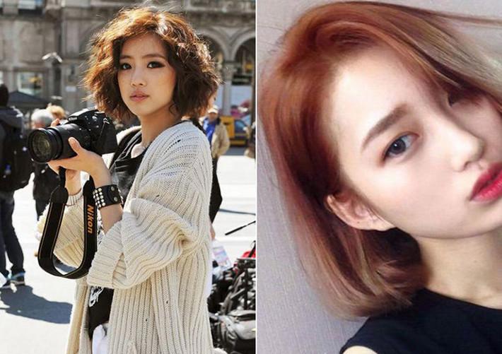 Kiểu tóc phù hợp với khuôn mặt dài trán cao