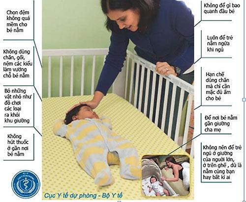 Cách đặt trẻ sơ sinh nằm ngủ đúng tư thế, đúng cách