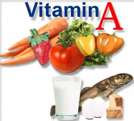 rau củ quả chứa nhiều vitamin a