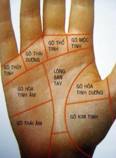 Xem bói nốt ruồi trong lòng bàn tay
